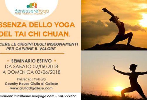 Seminario Estivo: L'essenza dello Yoga e del Tai Chi Chuan