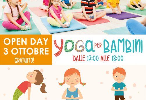 Open Day Gratuito – 3 ottobre – Yoga Per Bambini