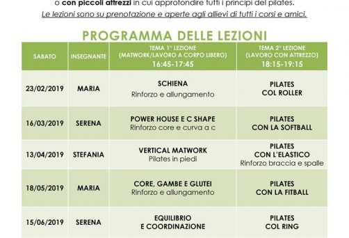 Workshop di Pilates per tutti!